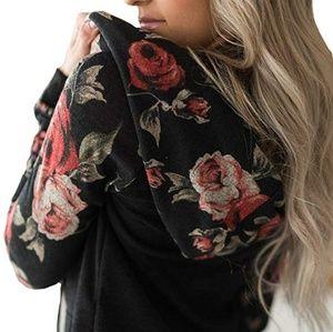 Floral hoodie top